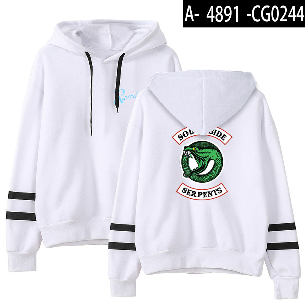 Riverdale Southside Serpents Hoodies Sweatshirts MenS Women South Side Serpents Hoodie Long Sleeve Striped Pullover Top Oversize 25