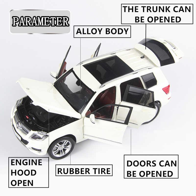 Welly 1:18 Mercedes GLK Off-Road Vehi Paduan Model Mobil Simulasi Mobil Dekorasi Koleksi Hadiah Mainan Die Casting Model mainan Anak