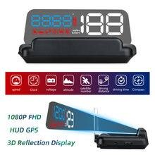 Автомобильный проекционный дисплей t900 hud gps светодиодный