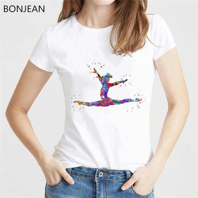 Frauen kleidung 2019 aquarell volleyball mädchen grafik druck t-shirt femme koreanische stil t-shirt weibliche tumblr tops t steetwear