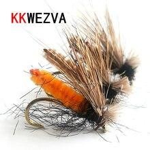 KKWEZVA 18 adet geyik saç malzeme balıkçılık sinek lures böcek kuru yüzen tipi böcek yapay sinek yem alabalık yem balıkçılık mücadele