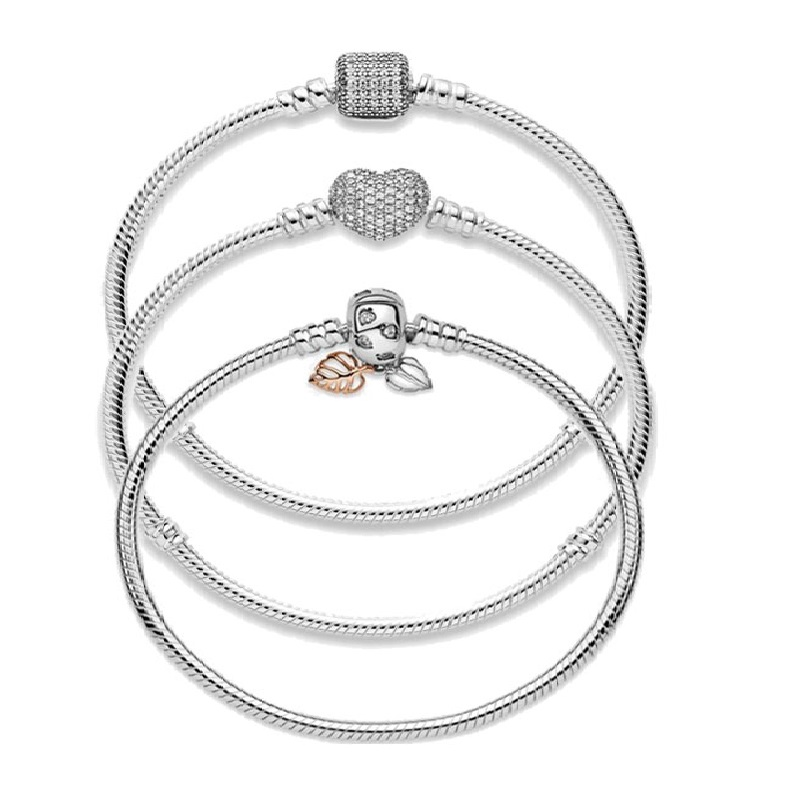 925 Sterling Silver Original pandora bracelet Suitable For Sterling Silver Bead Charms(China)