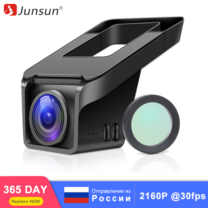 Junsun 4K Ultra HD 2160P 30fps Car DVR Camera WIFI GPS With CPL Sony IMX335 Night Vision Dash Cam Registrator Video Recorder