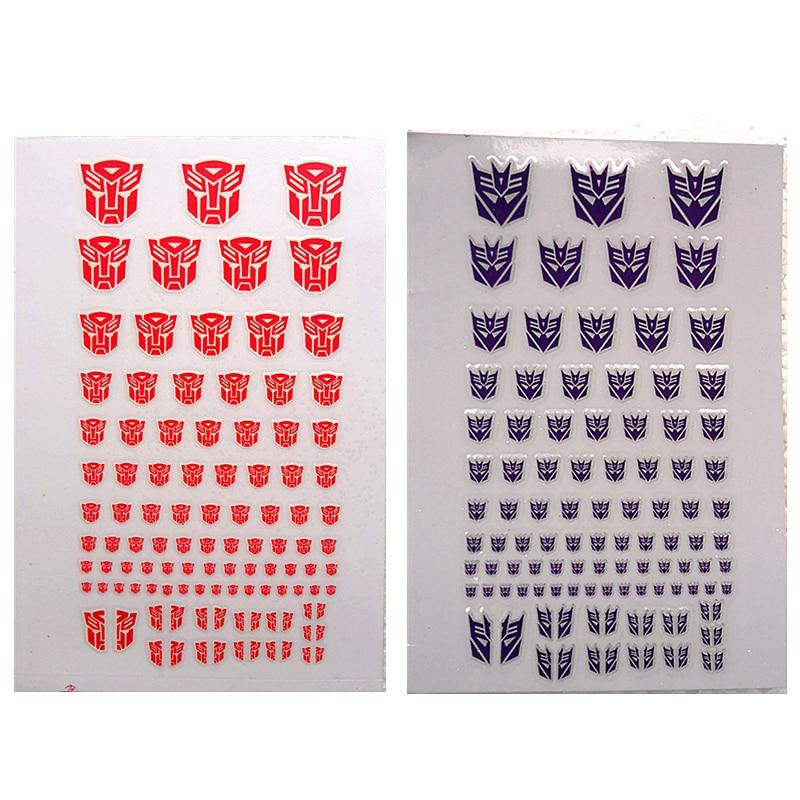 Transformation Decepticons Autobots G1 Stickers 90+ Symbol Decal for Custom DIY Scene Accessories  0.6*0.6--1.5*1.5Cm Decoration