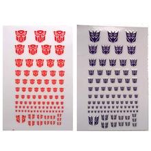 Transformation Decepticons Autobots G1 Stickers 90+ Symbol Decal for Custom DIY Scene Accessories  0.6*0.6  1.5*1.5Cm Decoration