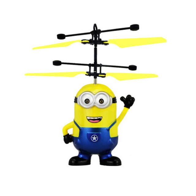 Mini Quadcopter Dron Hand Control Toys Mini drone Child Helicopter Fly Flashing RC Induction Aircraft for Children