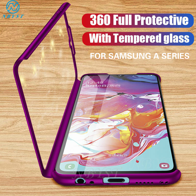 360Full Protection Phone Case for Samsung A71 A51 A70 A50 A30 A20 A10 A60 A40 Cover On Galaxy A6 A8 Plus A9 A7 A5 A3 M10 M20 M30 image