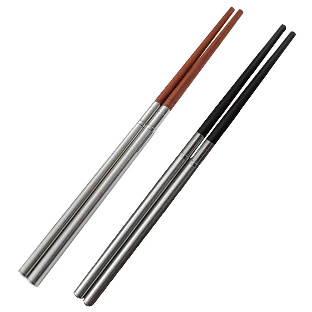 *DC 1 Pair Outdoor Camping Picnic Folding Chopsticks Retractable Chopsticks