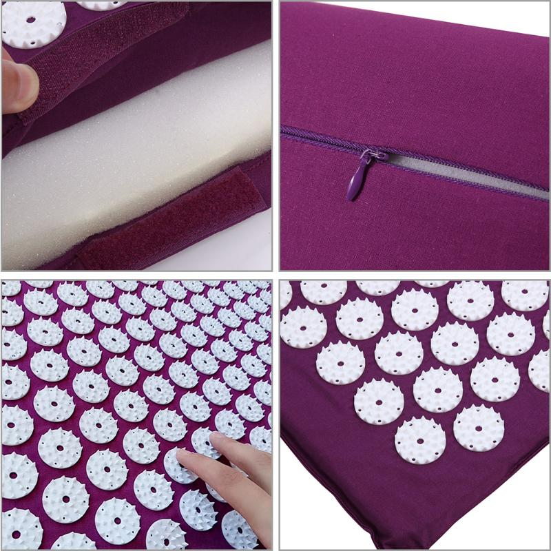Acupressure Massage Mat with Pillow set to body Relaxation to Release Stress and Tension 25