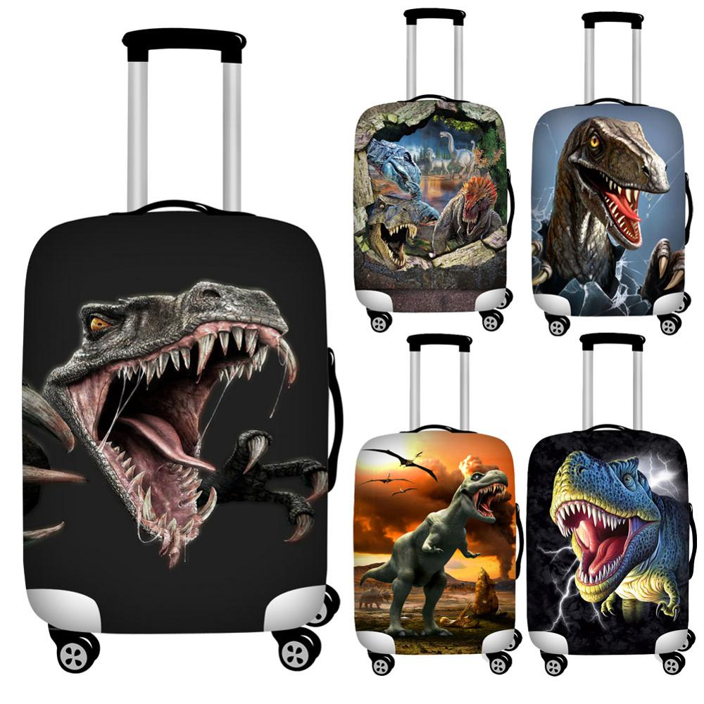 Twoheartsgirl 3d Dinosaur Print Luggage Protective Dust Covers Elastic Waterproof 18-32inch Suitcase Cover Travel Accessories