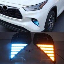 1 paar Auto LED Scheinwerfer Für Toyota Highlander 2020 2021 LED Daylights Blinker DRL Tagfahrlicht Auto Nebelscheinwerfer