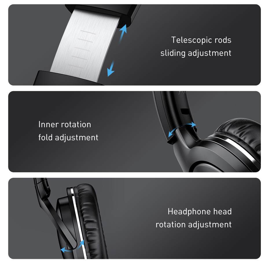 Baseus Wireless Headphoens Bluetooth 5.0 Headset Earphones Foldable Sport Headphone Headset Gaming Handfree Player Headphone