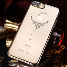 Bling เพชรคริสตัลกรณีสำหรับ iPhone 8 PLUS 7 Plus Luxury ยี่ห้อ Rhinestone ใสฝาครอบโทรศัพท์กันกระแทก Kingxbar