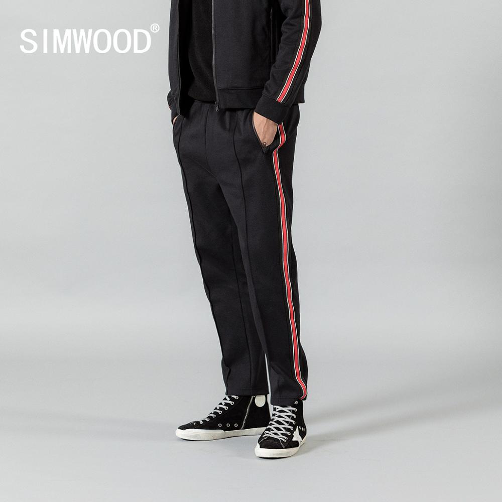 SIMWOOD Jogger Pants Tracksuits Trousers Drawstring New Autumn SI980699 Lounge Contrast-Side title=