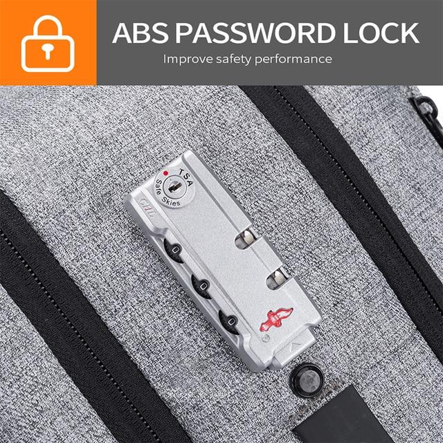 Bange Men Multifunction Waterproof USB charging Backpack Anti-thief TSL lock 15.6inch Laptop Backpacks Teenager Fashion Backpack 3