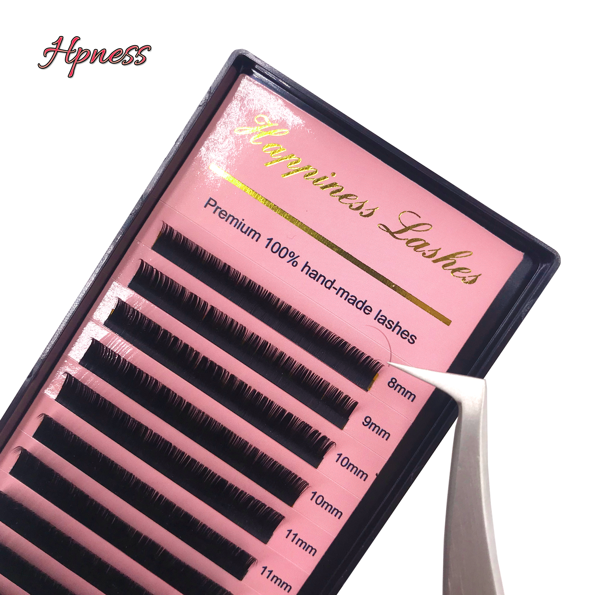 Eye Lash Extension Individual Eyelash Silk Mink Lashes Extension 10 Trays Lot Classic Soft Lashes All Sizes HPNESS in False Eyelashes from Beauty Health