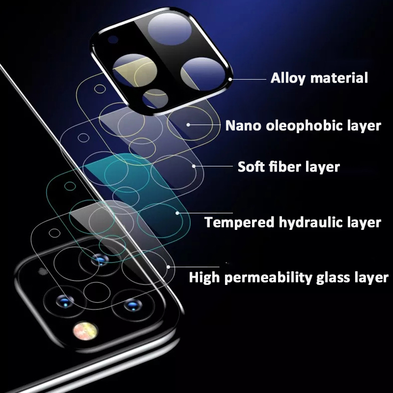 3D Full Back Camera Lens Screen Protector for iPhone 11 Pro Max X R XS Tempered Glass 2