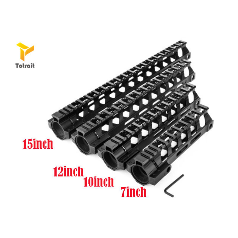 Totrait Tactica Ultralight <font><b>AR</b></font>-<font><b>15</b></font> M4 Lightweight M-LOK MLOK 7 9 12 <font><b>15</b></font> inch Slim Free Float <font><b>Handguard</b></font> Picatinny Rail Mount Bracket image