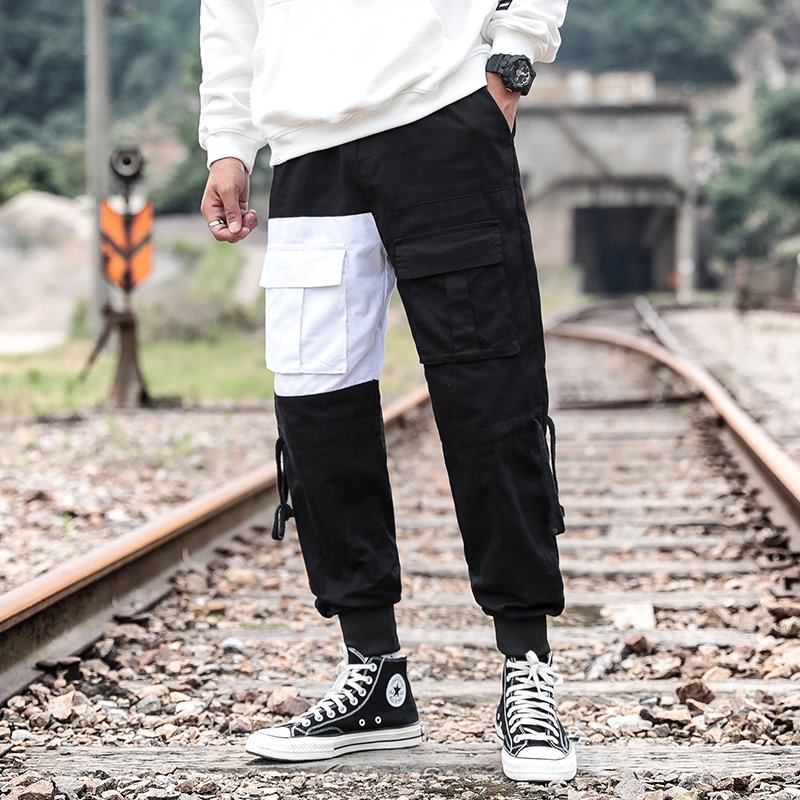 Jogger Pants Trousers Hip-Hop Cargo Men Black White Autumn Big-Sizes Camouflage 5xl Spring