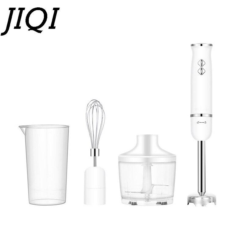 JIQI Electric Hand Held Blender Food Mixer Multifunction Meat Grinder Fruit Vegtable Juicer Egg Beater Chopper Whisk Cream Stick