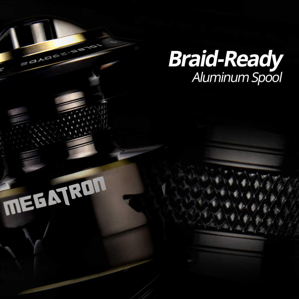 KastKing Megatron 18 كجم ماكس سحب الكربون سحب الغزل بكرة الصيد مع بكرة كبيرة الألومنيوم الجسم المياه المالحة الغزل الصيد بكرة