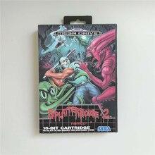 Splatterhouse 2   EUR couverture avec boîte 16 bits MD carte de jeu pour Megadrive Genesis Console de jeu vidéo