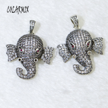 5 pieces elephant pendants Ancient silver colors necklace animal pendants  retro jewelry for women accessories pendants 50031