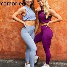 Бесшовный костюм для йоги из двух предметов женщин спортивная