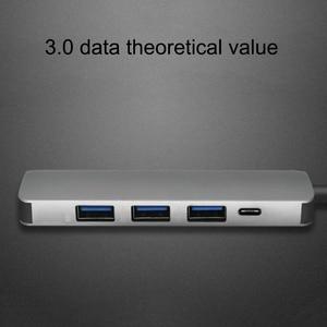 Image 5 - 5 Trong 1 Cổng USB Loại C Hub Hdmi PD Cấp Nguồn Cổng 4 Cổng USB 3.0 Hub USB C Adapter dành Cho Mac Book Pro Thunderbolt HUB USB C