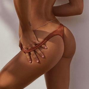 Hot Women Summer Bikini Thong Bottom Hot Sale Brazilian V Cheeky Style Ruched Bandage Swimwear Sexy Beach Wear Swimming Clothes
