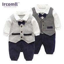 Ircomll 2018 Fashion Baby Boy Kleding Katoen Vlinderdas Gentleman Baby Jongens Rompertjes Pasgeboren Bebe Jumpsuit Baby Bodie Bovenkleding