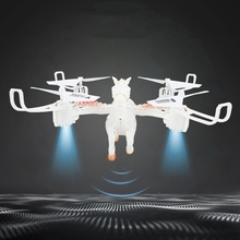2.4Ghz Fixed Height White Horse Quadrocopter with LED Light RC Drone 360° Stunt