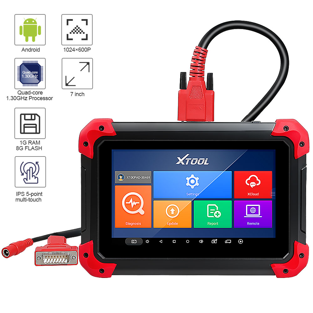 XTOOL X100 PAD OBD2 Car Key Programmer Support Key Programming Mileage Adjustment Oil Service Light Reset Diagnostic Tool