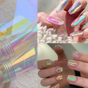 Tetty Aurora Nails szklana folia filmowa naklejka koreański paznokci Trend Design Manicure dekoracja narzędzia tanie i dobre opinie Jedna jednostka CN (pochodzenie) 1 box M245 Naklejka naklejka Foil Paper Nail Foil