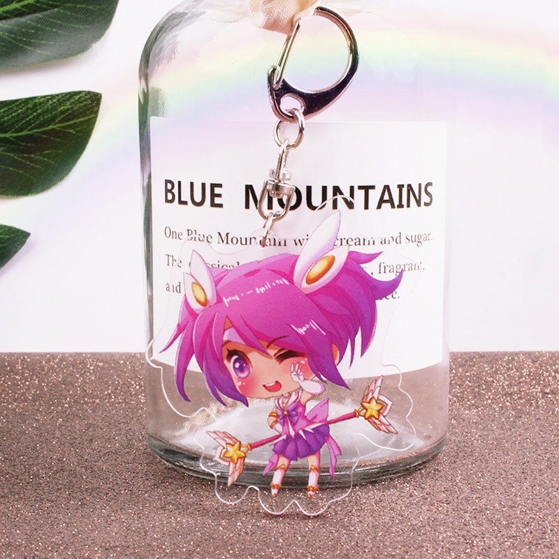 League Of New Legends Acrylic Keychain LOL Soraka Ashe LuLu Riven Funny Cute Pendant Jewelry Accessory Chaveiro Llaveros Gifts