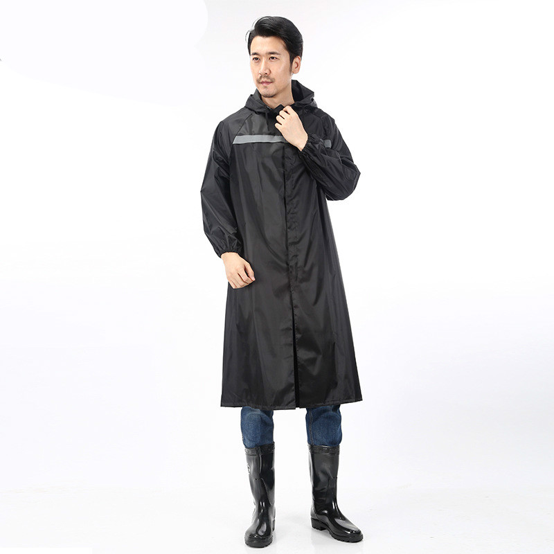 Long Raincoat Joined Adult Men And Women Construction Site Labor Protection Station Outdoor Hiking Waterproof Zipper Windbreaker