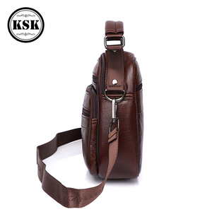 Image 3 - Sacoche en cuir véritable pour hommes, sacoche de luxe, sacs à bandoulière à rabat Fashion, sacs à main KSK, 2019