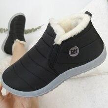 Winter Boots Women Waterproof Slip-On Ankle Footwear Fur Female Warm Plush