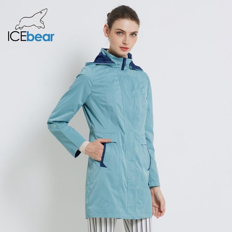 ICEbear 2019 Women's Coat High Quality Autumn Long   Trench   Coat For Women Brand Clothing 17G116D