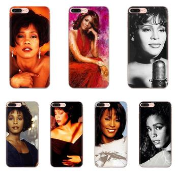 Soft Cases Capa Cover For Xiaomi Redmi Note 2 3 3S 4 4A 4X 5 5A 6 6A Pro Plus Singer Whitney Houston image