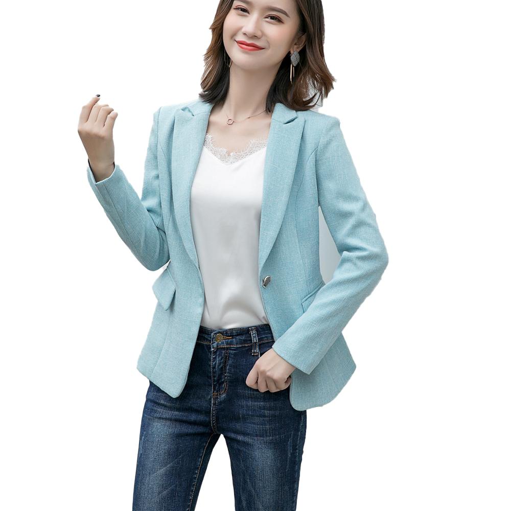 Female Elegant Formal Women Orange Gray Blue Blazer Jackets Business Wear Coat Full Sleeve Plus Size 4XL Jacket Office Ladies OL