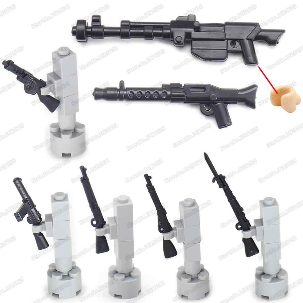 Military Soldat Carcano Schritt Pistolen Figuren Armee Baustein Waffen Set WW2 Spezielle Kampf Modell Junge Geschenke Pädagogisches Spielzeug