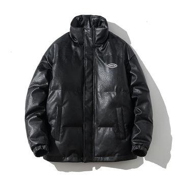 ExtFination Men's Black Lint Jacket 2020 Winter New Woman Casual Oversize Parkas Hip Hop Streetwear Man Fashion Classic Parka