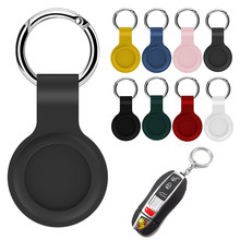 For Apple Airtags Liquid Silicone Protective Sleeve For Apple Locator Tracker Anti-lost Device Keychain Protective Sleeve Hot