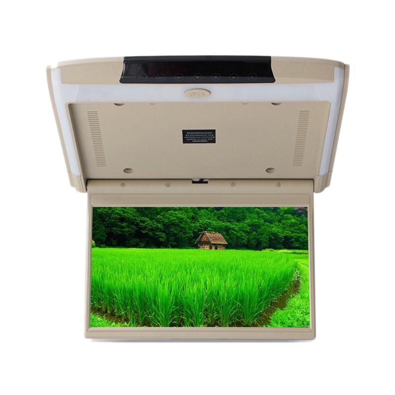 11.6 inch Car HD Digital LCD Display Rotating Screen Ceiling Display MP5 Display HDMI TF SD Card Player