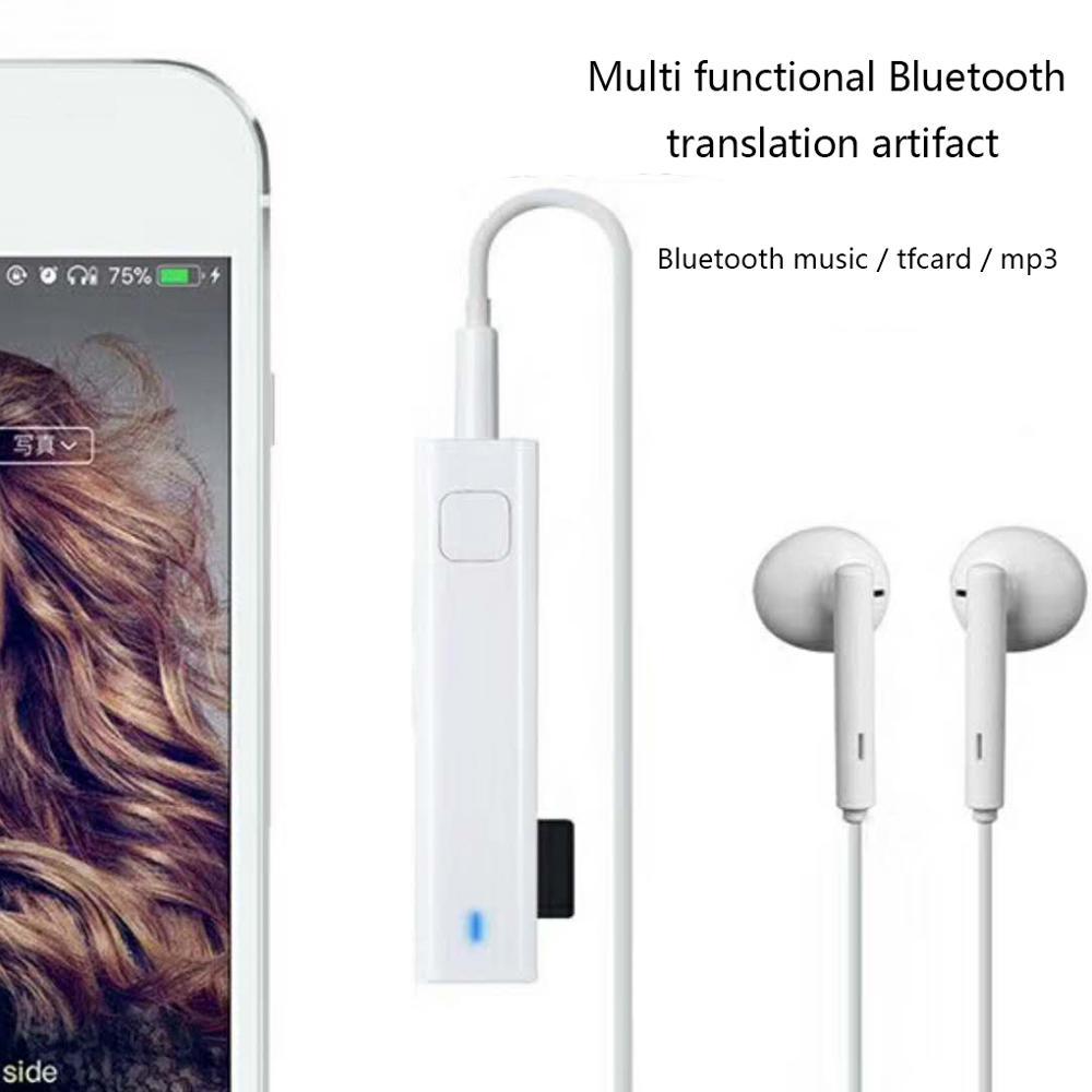Smart Stimme Übersetzung Stereo Headset Drahtlose Bluetooth Mini Übersetzer 26 Sprachen Echtzeit Übersetzung-in Übersetzer aus Verbraucherelektronik bei title=