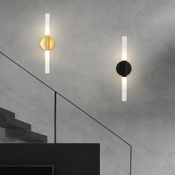 Postmodern Luxury Living Room Wall Lamp G9 Bulb Metal Gold Black Entrance Corridor TV Background Bathroom LED Mirror Front Light