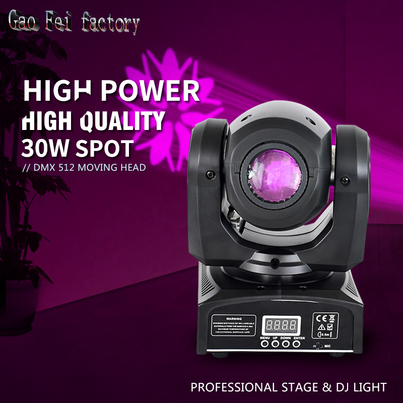 Factory Price DMX Stage Spot Moving 11 Channels LED Spot 30W Moving Head