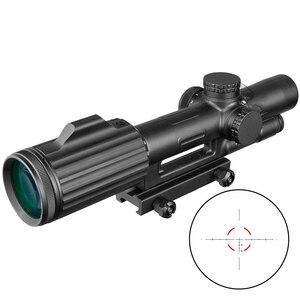 ACOG 1-6X24 Cruz concéntricos Rifle de caza Riflescope táctico vista óptica iluminado R & G Rifle de francotirador.