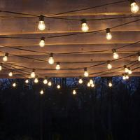 IP65 15M LED S14 String Lights Waterproof E27 Warm LED Retro Edison Filament Bulb Outdoor Street Garden Patio Holiday Lighting
